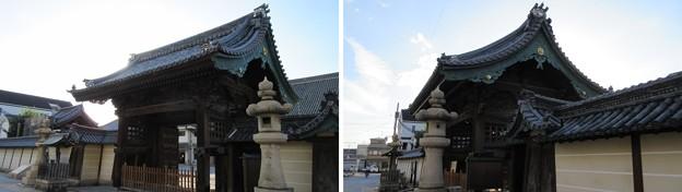 貝塚御坊 願泉寺(貝塚市)山門・築地塀