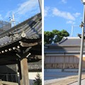 貝塚御坊 願泉寺(貝塚市)手水舎 ・太鼓堂