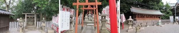 岸城神社(岸和田市)神宮遥拝所・稲荷社・七間社