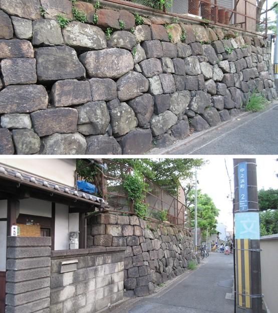 防潮石垣(大阪府岸和田市)
