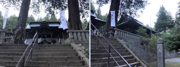 新海三社神社(佐久市)拝殿・神楽殿