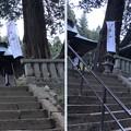 Photos: 新海三社神社(佐久市)拝殿・神楽殿