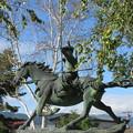 Photos: 霞ヶ城跡(下諏訪町)金刺盛澄像