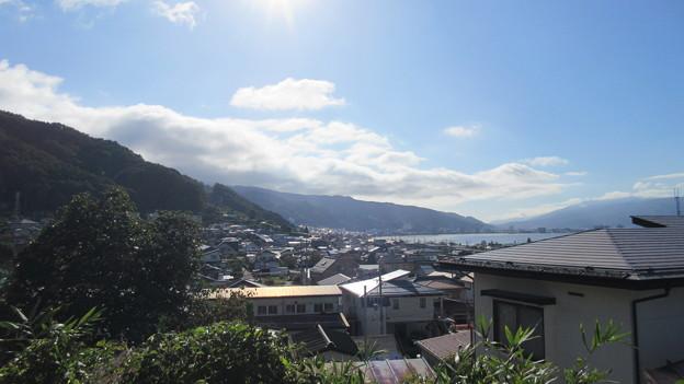 霞ヶ城跡(下諏訪町)より南