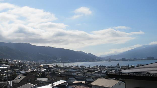 霞ヶ城跡(下諏訪町)諏訪高島城方向