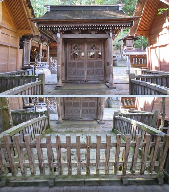 上社 本宮(諏訪市中洲)四脚門