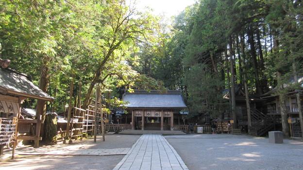 上社 本宮(諏訪市中洲)拝所