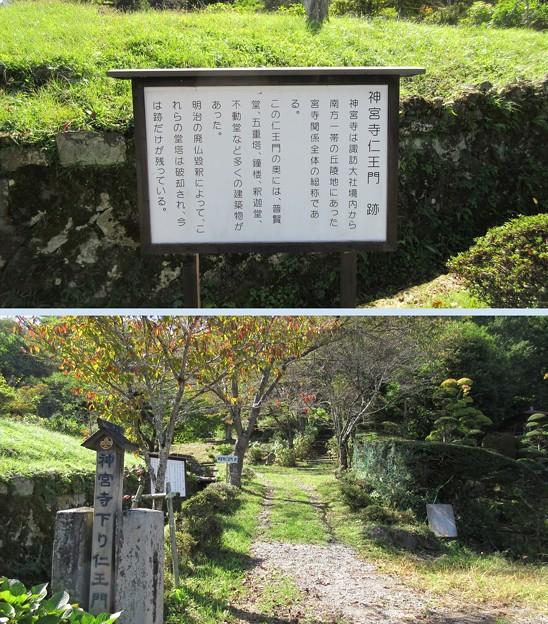 法華寺/上社神宮寺跡(諏訪市)仁王門跡