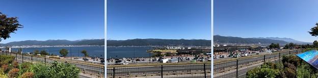 Photos: 諏訪湖SA(岡谷市)より諏訪湖