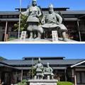 Photos: 義仲館(木曽町)木曽義仲・巴御前像