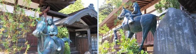 徳音寺(木曽町)巴御前騎馬像