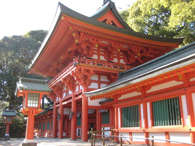Photos: 11.01.31.氷川神社(大宮区)楼門