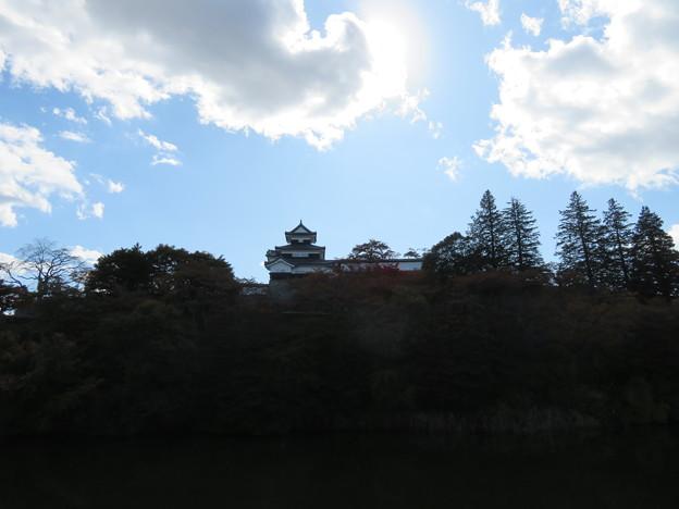 白河小峰城 三重櫓(福島県白河市)城外より