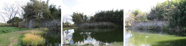 白河小峰城 外堀(福島県白河市)石垣