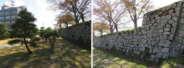 白河小峰城(福島県白河市)二ノ丸水堀跡
