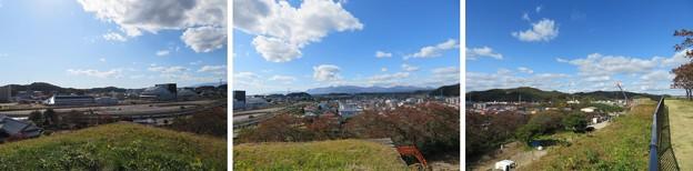 白河小峰城 本丸城塁(福島県白河市)富士見櫓跡より