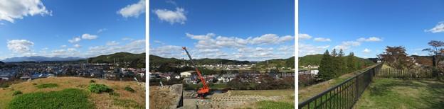 白河小峰城 本丸城塁(福島県白河市)雪見櫓跡より