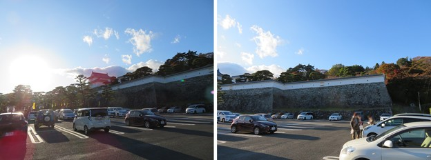 二本松城(福島県二本松市)第一駐車場