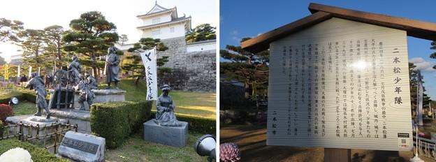 二本松城(福島県二本松市)二本松少年隊像