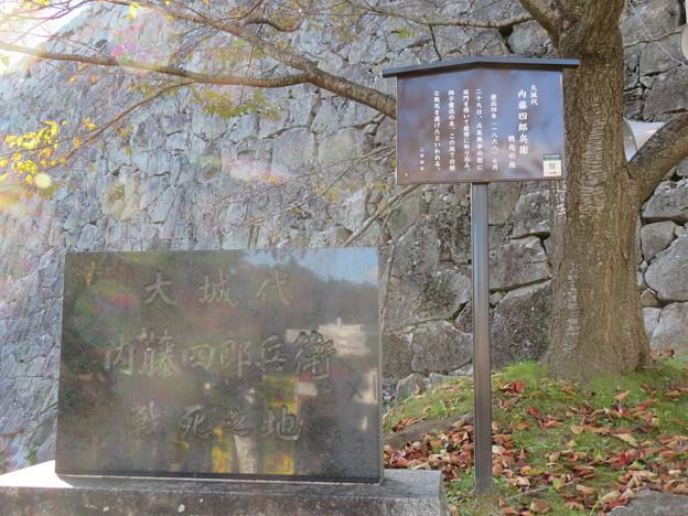 二本松城(福島県二本松市)二本松少年隊 内藤四郎兵衛戦死の地碑