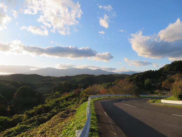 二本松城(福島県二本松市)西の空
