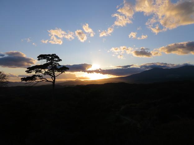 二本松城(福島県二本松市)本丸より西の空