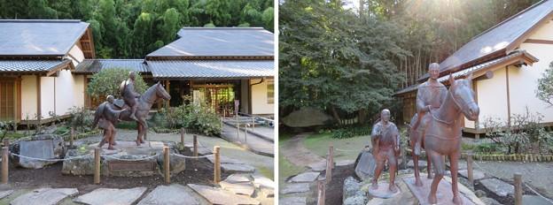 黒羽城 三郭(大田原市)松尾芭蕉像
