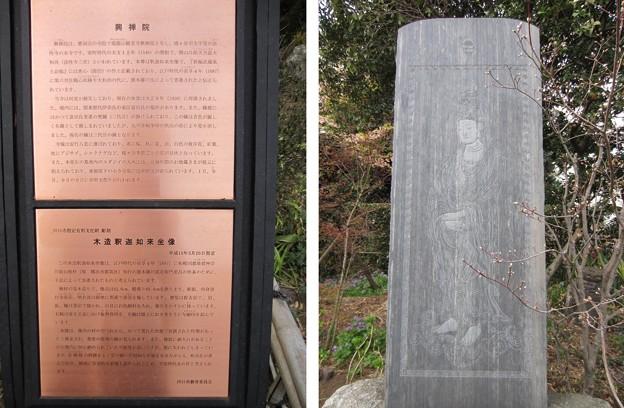 Photos: 興禅院(川口市)観音像板碑