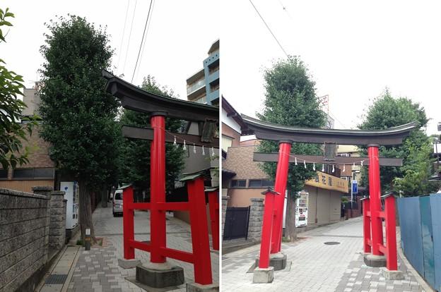 鳩ヶ谷氷川神社(川口市)一の鳥居