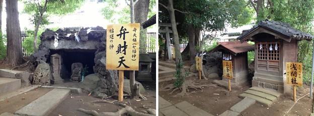 鳩ヶ谷氷川神社(川口市)浅間・三峰・弁天