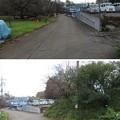 滝の城(所沢市)先、大手門跡 ・右手、外堀跡