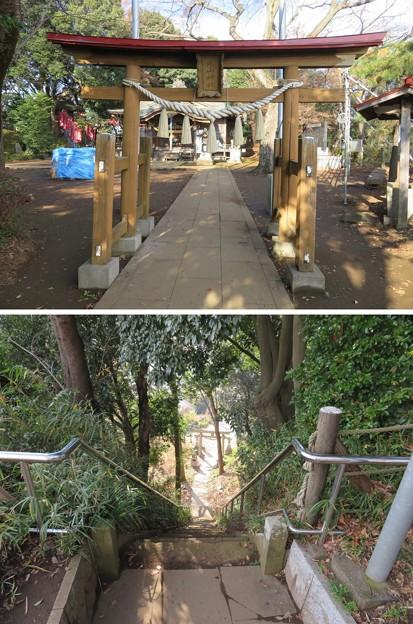 滝の城(所沢市)城山神社二の鳥居