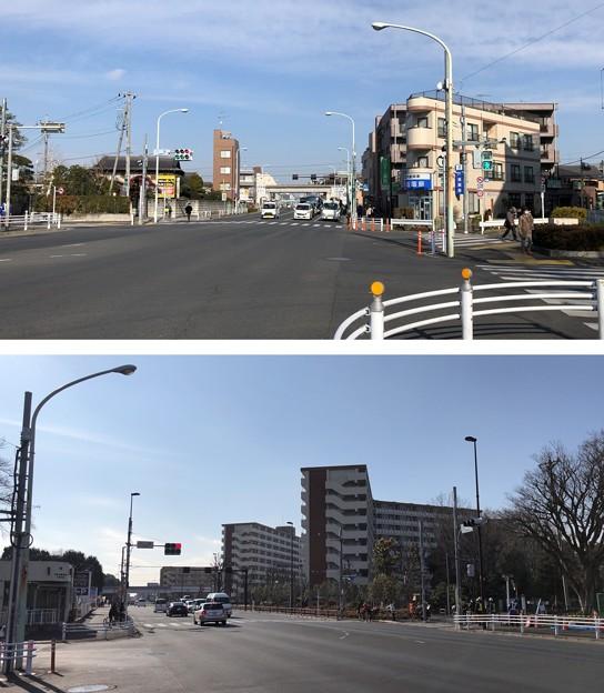 九道の辻(東村山市)八坂交差点 ┐(´Д`≡´Д`)┌