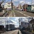 関戸古戦場跡標柱前より(多摩市)旧鎌倉街道南北