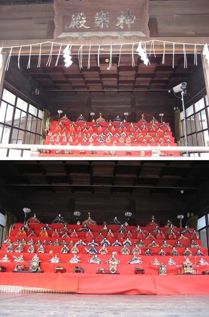 11.02.19.素盞雄神社(南千住6丁目)神楽殿・雛人形展示