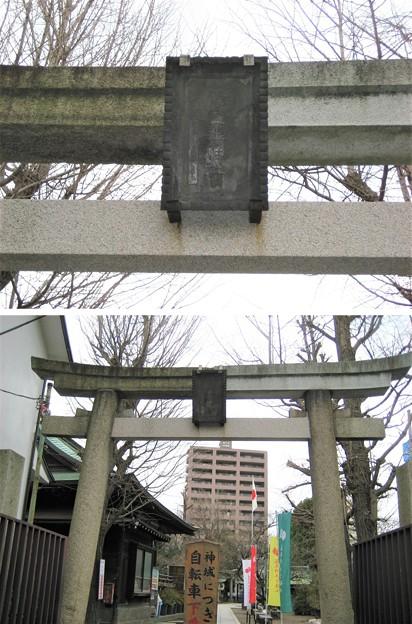 11.02.19.素盞雄神社(南千住6丁目)西鳥居