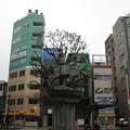 11.03.22.日暮里駅東口(荒川区)太田道灌騎馬像