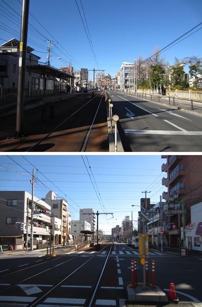 Photos: 13.01.04.都電荒川線 宮ノ前駅 ・都道306号(荒川区西尾久)