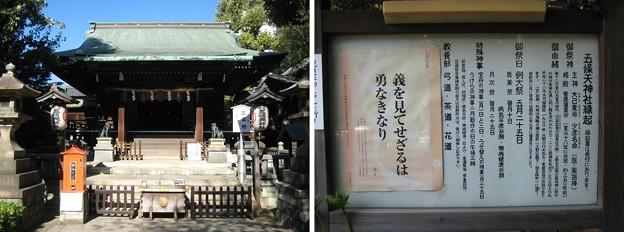 花園稲荷神社(台東区。都営上野恩賜公園)五條天神社