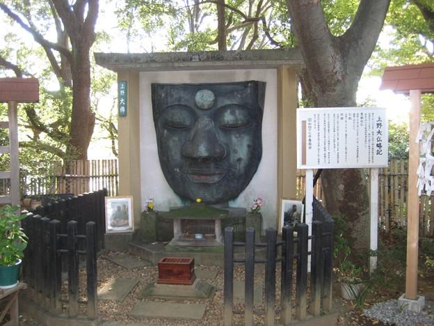 上野大仏(台東区。都営上野恩賜公園)