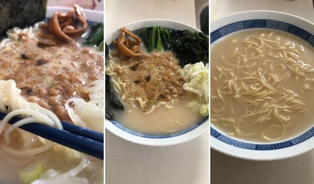 tabeteだし麺シリーズ「霧島黒豚 豚骨だし ラーメン」納豆ラーメン!