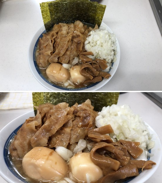 Photos: 青森長尾中華そば + 山形豚 + 烏骨鶏