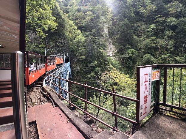 黒部峡谷鉄道 黒薙駅・後曳橋(黒部市)