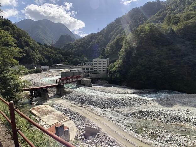 黒部峡谷鉄道 黒部川第二発電所(黒部市)