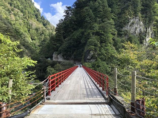 黒部峡谷 奥鐘橋(黒部市)