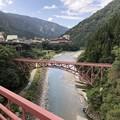 Photos: 黒部峡谷鉄道 山彦橋より旧山彦橋(黒部市)