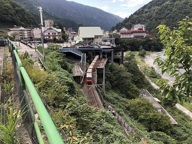 やまびこ展望台より宇奈月駅(黒部市)