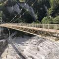 黒部ダム カンパ谷つり橋(立山町)