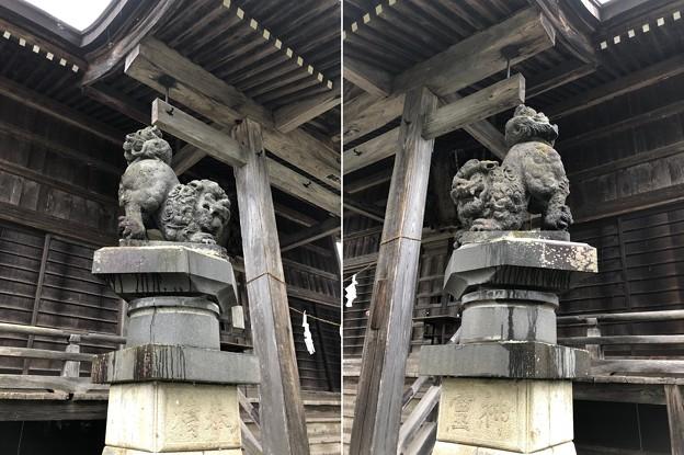 鬼無里神社(長野市鬼無里)狛犬