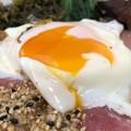 Photos: 伊那さくらたまご3 + 沖縄アグー豚ベーコン3 + サッポロ一番ごま味しょうゆラーメン2